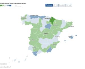 Spanje kleurt groen