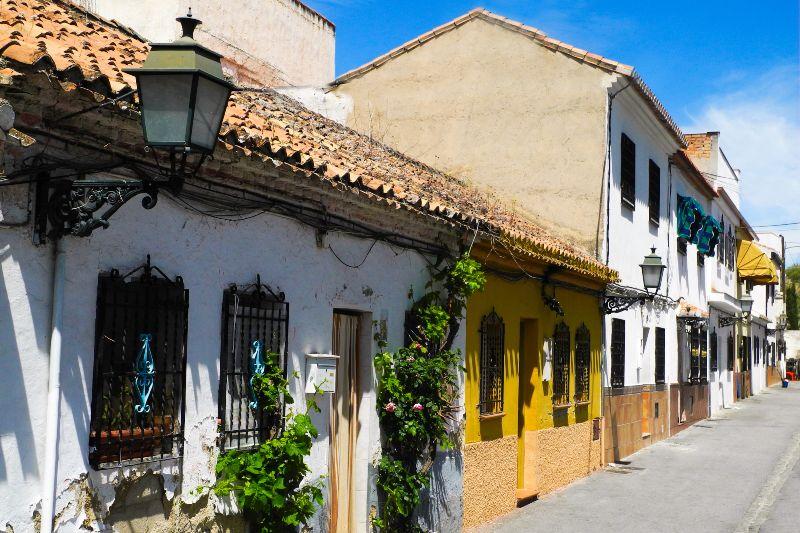 De wijk Albaicín in Granada, Spanje