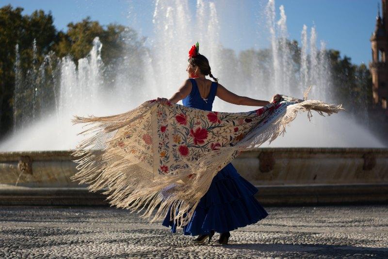 Flamenco danseres in Granada, Spanje