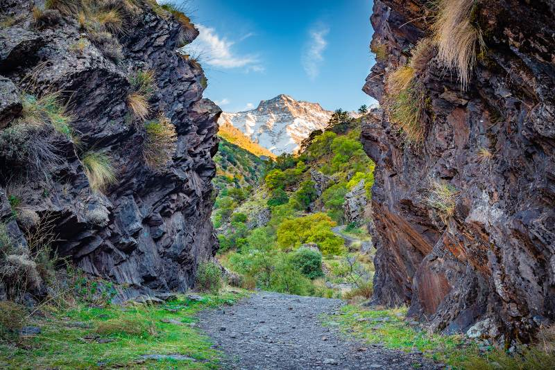 Wandelen nabij Güéjar Sierra, Spanje