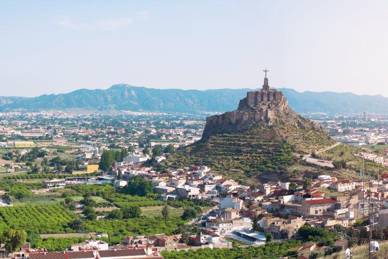 Het beeld van Monteagudo Christ nabij Murcia