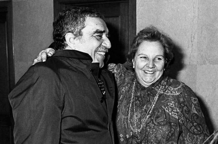 Gabriel García Marquez y Carmen Balcells