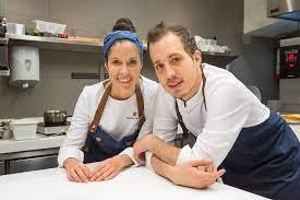 Carolina Sanchez met haar man