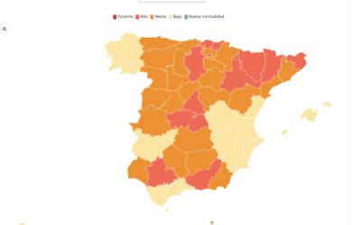 Alle Spaanse regio's onder de 100