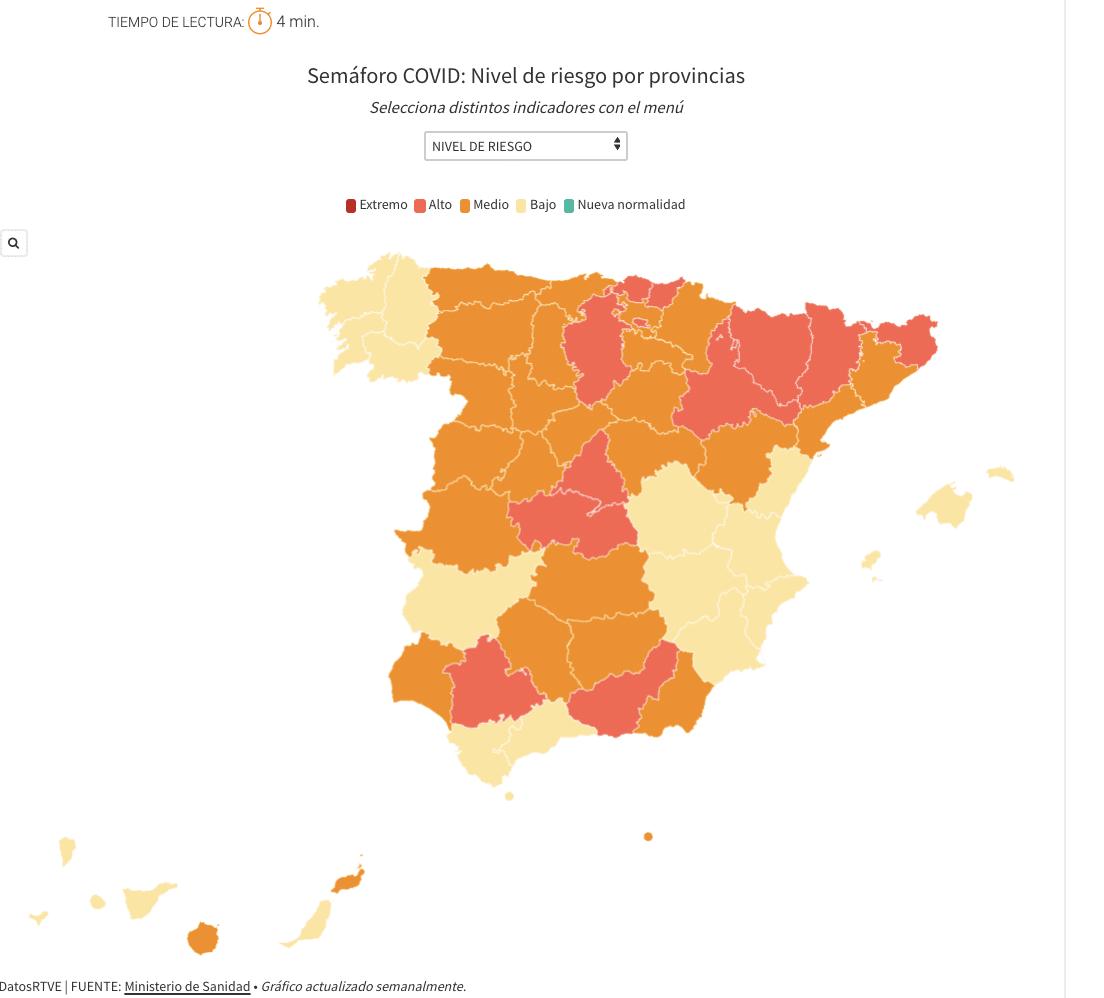 Coronastoplicht Spanje