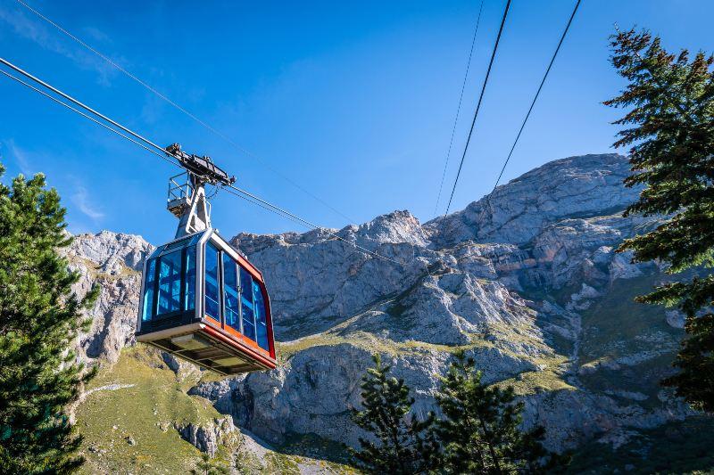 Kabelbaan in Picos de Europa