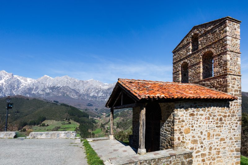 San Miguel hermitage in Picos de Europa