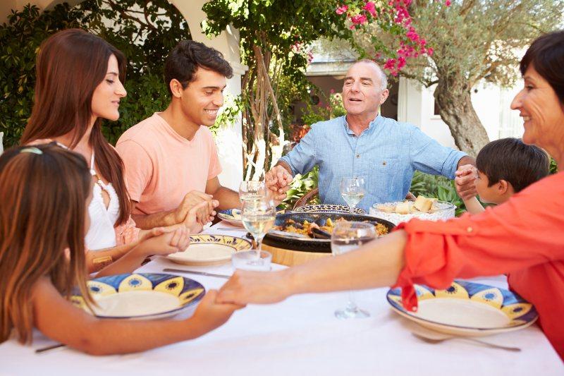 Familie lunch in Spanje
