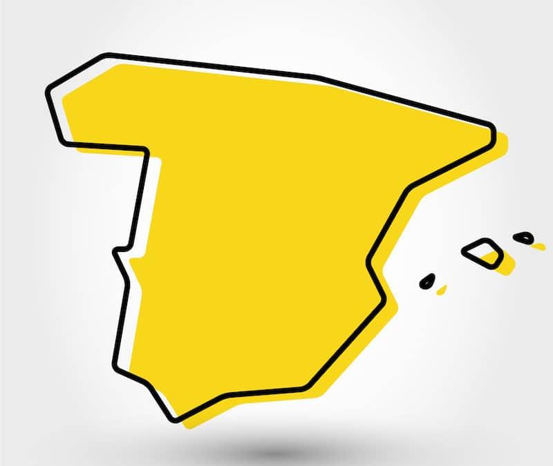 Spanje op geel!!