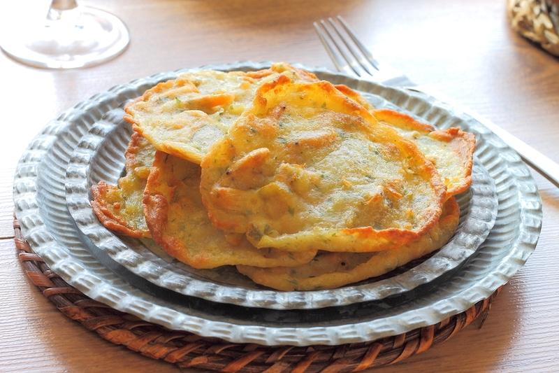 Tortillitas de camarones.